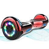 MARKBOARD Hoverboard, Scooter autoequilibrado de 6.5', Hoverboard con Ruedas Luminosas, niños de Entre 8 y 12 años