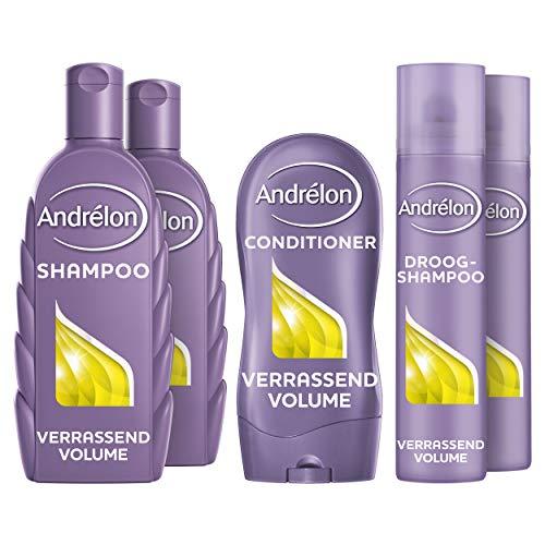 Andrélon Classic Verrassend Volume Pakket voor slap of futloos haar - Shampoo, Conditioner en Droogshampoo - 1 pakket