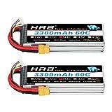 HRB 2PCS 4S 3300mAh 14.8v Lipo RC Batteria 60C Pack con XT60 / EC3 / Deans /...