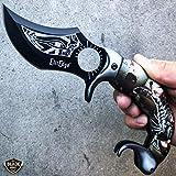 BestSeller989 8.5' Fantasy Scorpion Assisted Open Tactical Folding Pocket Knife Karambit Grey