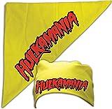 Hulk Hogan Costume Bandana Hulkamania Logo -Yellow
