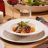 Villeroy & Boch - For Me Dinner-Set, 8 tlg., das Allround-Talent, Premium Porzellan, spülmaschinen-, mikrowellengeeignet, Weiß - 3