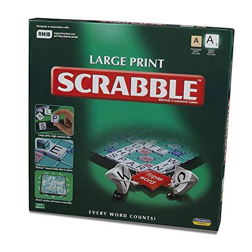 Kids Play Time Scrabble Edición grande XL letras de alto contraste para azulejos y juego