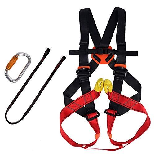 ZWWZ Kinder-Berg Geschirre Sicherheit, Fallschutzgürtel for Indoor Outdoor Klettern, tragende 15KN HAIKE (Size : L)