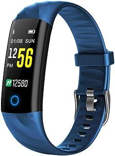 HZYYZH Pulsera De Los Deportes Control De Actividad De Ritmo Cardíaco Ejercicio De Control IP68 Pulsera Inteligente A Prueba De Agua Natación,Azul