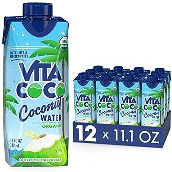 Vita Coco Coconut Water Pure Organic | Refreshing Coconut Taste | Natural Electrolytes | Vital Nutrients | 11.1 Oz  Pack Of 12