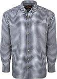 Drake Waterfowl Featherlite Check Shirt L/S Dark Navy Large