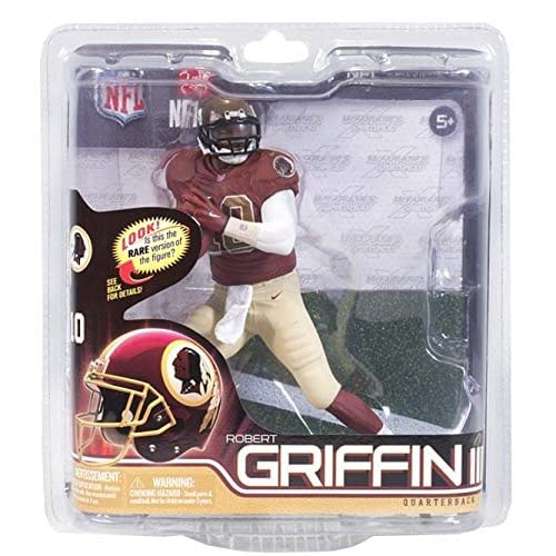 01e3ec5ea McFarlane Toys NFL Series 31 Robert Griffin III (RGIII) Figure Washington  Redskins Throwback Anniversary