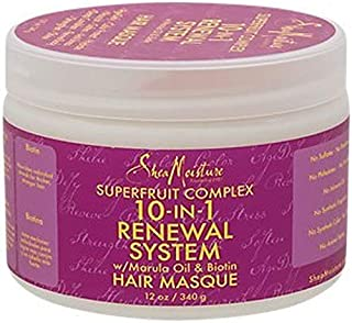 Shea Moisture Superfruit Complex 10 in 1 Renewal System with Marula Oil and Biotin Hair Masque 12 Oz