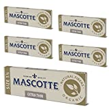 MASCOTTE(マスコット) ワン&クオーター 1&1/4 ピュアオーガニックヘンプ 無漂白 スローバーニング 手巻きタバコ用ペーパー 50枚入×5冊パック 7-65003-27