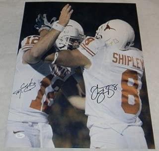 COLT McCOY & JORDAN SHIPLEY AUTOGRAPHED SIGNED TEXAS LONGHORNS 16x20 PHOTO - JSA Certified - Autographed NFL Photos