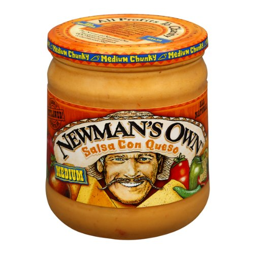 Newman's Own Con Queso Salsa, 16-Ounce (Pack of 6)