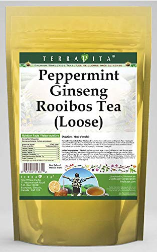 Peppermint Ginseng Rooibos Tea Loose ZIN: Cash special price Recommendation 4 oz 542911