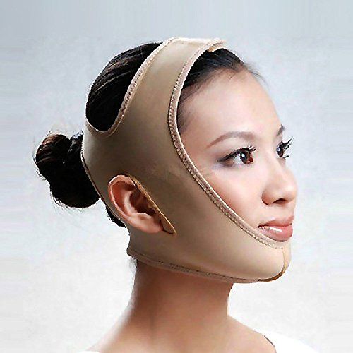MakeupAccフェイスラインベルト M/L/XLサイズ 抗シワ 額、顎下、頬リフトアップ 小顔 美顔 頬のたる...