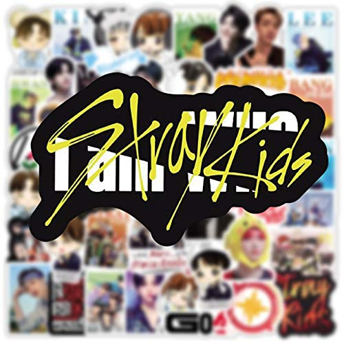 TUHAO Pack Kpop Stray Kids Stickers Aesthetic Laptop Bicycle Guitar Skateboard Waterproof Stiker For Fans Collect Gifts 50 Pcs/