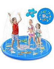 Creen Splash Pad, Jardín de Verano Juguete Acuático para Niños Pulverización para Actividades Familiares Aire Libre/Fiesta/Playa/Jardín - PVC Respetuoso con el Medio Ambiente