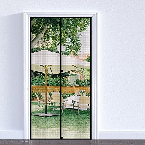 fowong Magnet Fliegengitter Tür 70×210cm Magnet Insektenschutz Tür, verstärkt Magnet Fliegenvorhang für Balkontür Wohnzimmer Terrassentür, Klebemontage Ohne Bohren