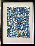 Takashi Murakami, an Homage to IKB, litografía (Print), firmada y numerada, incluye certificado, 38 x 28 cm