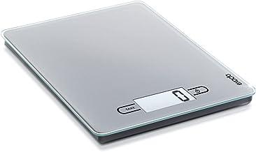 Soehnle 2046514 Balance de cuisine électronique Exacta Touch en argent, Plastique, Gris, 22 x 25,5 x 3,7 cm