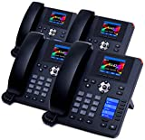 XBLUE (4) IP Phone Bundle for XBLUE Cloud Phone System w/Auto Attendant, Voicemail to Email, Remote & Cell Phone Extensions, Queuing, Call Record - Replaces Phone Company Lines, Keep Your Phone Number