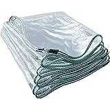 HLLING Lona Impermeable Transparente con Ojales Cubierta De Dosel A Prueba De Lluvia 0,35mm De Espesor Plegable Lona Impermeable para Cobertizo De Invernadero (Color : Clear, Size : .35x3.3m)