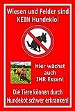 Wiesen Felder kein Hundeklo - 30x20cm - 3mm Aluverbund thumbnail