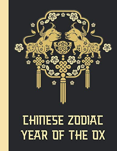Chinese Zodiac: Year Of The Ox - Vietnamese Happy New Year Lucky Gift - Asian Lunar Calendar Astrology Sign - Best Creative Notebook Journal - Gold & Black Cover 8.5
