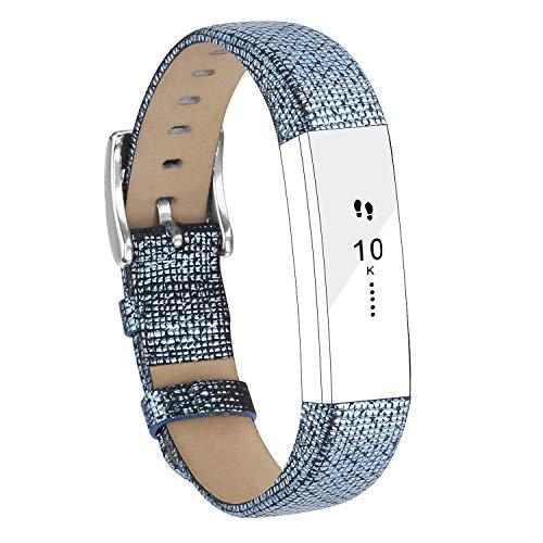 Goosehill Ersatz Lederarmbänder kompatibel für Fitbit Alta und Alta HR, Verstellbare Ersatzarmband Sport passend für Fitbit Alta und Alta HR Unisex Fitness Armband