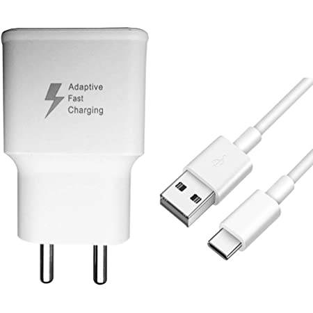 Ragav Enterprise Charger for Samsung Galaxy A51 Adapter Qualcomm QC 3.0 Quick Charge Adaptive Fast Charging, Rapid, Dash, VOOC, AFC Charger (3.1 AMP, White)