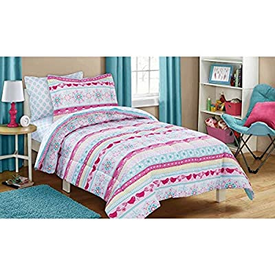 Mainstays Kids 5-Piece Bed in a Bag Coordinating Bedding Set, Twin