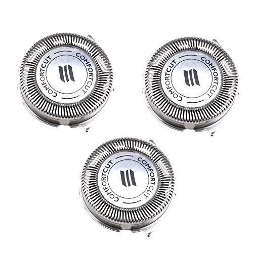 3x Têtes de Rasoir SH30 / 52 Lames de Rechange Compatible pour Norelco Series 3000 2000 1000 S738