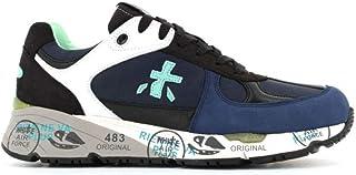 Luxury Fashion | Premiata Men MASE4646 Blue Fabric Sneakers | Spring-summer 20