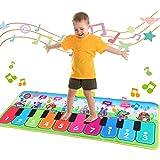 Fascol Piano Matte, Musikmatte für Kinder ab 1-5 Jahre, Klaviermatte, Tanzmatte Kinder mit 8 Musikinstrumente und 19 Tasten, Lernspielzeug für Kleinkinder,...