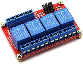 DZS Elec 12V 4 Channel High / Low Level Trigger with Optical Isolation Relay Module Fault Tolerant Design Load AC 0-250V/10A DC 0-30V/10A Circuit Switch Board