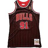 YHIU Camiseta de Baloncesto para Hombre-Dennis Rodman # 91, Camiseta Vintage de los Chicago Bulls, Camiseta sin Mangas, clásica-L