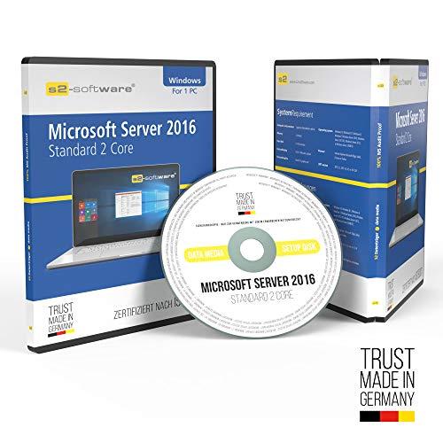 Microsoft® Server 2016 Standard 2Core Addon DVD mit original Lizenz. Papiere & Lizenzunterlagen von S2-Software GmbH & Co. KG