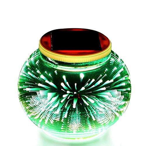 Eonsmn Solar-Licht, wasserdichte 3D-Plattierung, Solar-Tischlichter, Farbwechsel dekorative Nachtlampe für draußen, drinnen, Terrasse, Garten, Party, Weihnachten, Dekoration (Fireworks)