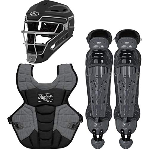 Rawlings Velo 2.0 Intermediate NOCSAE Baseball Protective Catcher's Gear Set, Black and Graphite (CSV2I-B/GPH)