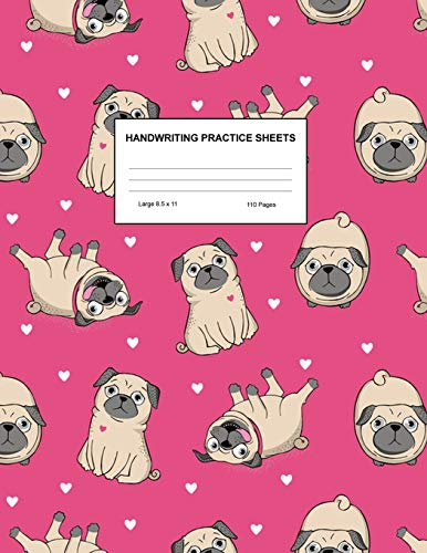 Handwriting Practice Sheets: Cute Blank Lined Paper Notebook for Writing Exercise and Cursive Worksheets - Perfect Workbook for Preschool, ... 3rd and 4th Grade Kids - Product Code A4 8306