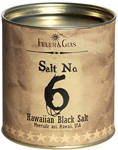 Hawaiianisches Schwarzes Meersalz – Hawaiian Black Salt No. 6 - Gourmet Salz aus Hawaii – Ideal als Salz-Geschenk - Kostbare Hawaiianische Salzflocken – Eine hawaiianische Delikatesse – von Feuer & Glas
