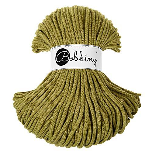 Bobbiny Oeko-Tex - Cordón de 5 mm x 100 m para macramé y manualidades en verde kiwi