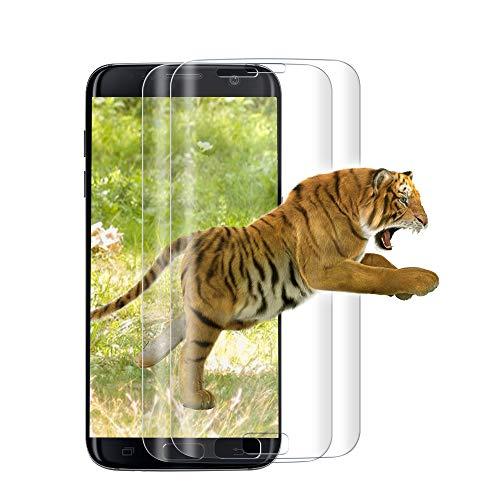 [2 Pièces] Verre Trempé pour Samsung Galaxy S7 Edge, [3D Couverture Complète] Film de Protection d'Ecran, 3D Touch Compatible, Ultra Résistant, 9H Dureté pour Samsung S7 Edge - Transparent