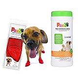 Small Pawz Dog Boots & SaniPaw Dog Paw Wipe Bundle