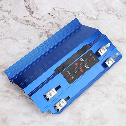 Emoshayoga Máquina de Biselado de Azulejos, Cortador de Piedra de Escritorio, Biselado de Azulejos, decoración del hogar para instalación de Azulejos(Blue)