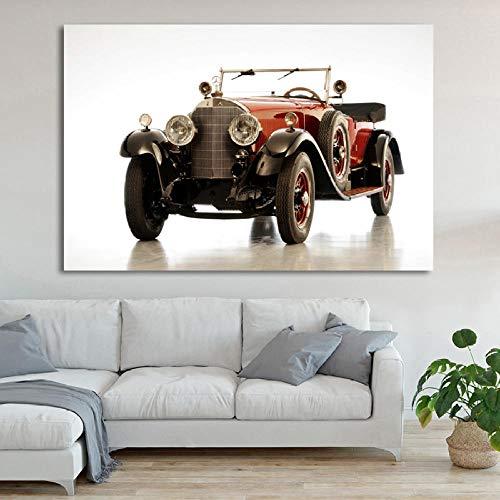 VVSUN Carteles de Arte de Pared Mercedess Luxury Retro Car Vintage Picture Prints Canvas Art Painting para la decoración Moderna de la habitación del hogar 50X75cm 20x30inch Sin Marco