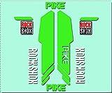 Ecoshirt GN-PI8G-KF99 Pegatinas Rock Shox Pike R224 Vinilo Adesivi Decal Aufkleber Клей MTB Stickers Bike, Verde