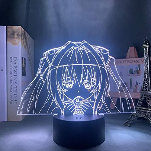 3D Nacht Lampe Illusion Lampe Osterdeko 3d Lamp Anime To Love Ru for Kids Bedroom Decor Night Light Brithday Gift Manga Room Desk Led Light To Love Ru ZMSY