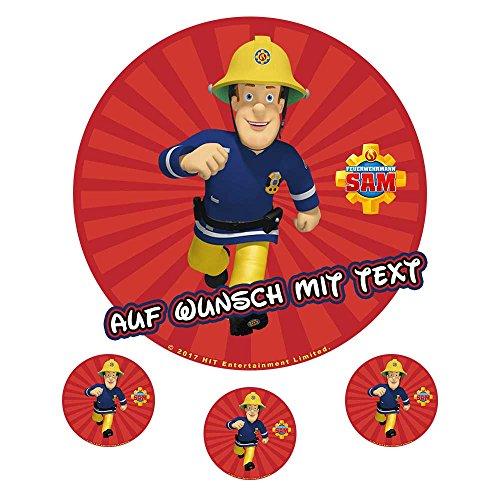 Tortenaufleger Geburtstag Tortenbild Zuckerbild Oblate Feuerwehrmann Sam (Zuckerpapier)
