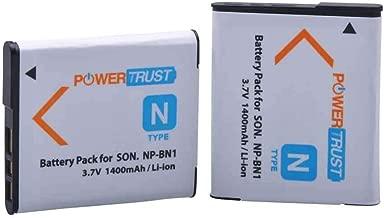 PowerTrust 2X NP-BN1 Battery for Sony NP BN1 NPBN1 BC-CSN and Cyber-Shot DSC-QX10 QX30 QX100 DSC-TF1 DSC-TX10 TX20 TX30 DSC-W530 DSC-W570 DSC-W650 DSC-W800 DSC-W830 Digital Camera