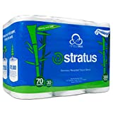 Stratus Eco-Friendly Bamboo / Recycled Toilet Paper by Nimbus Eco, 300 Sheet...